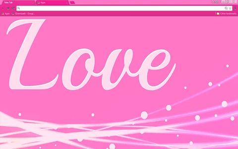 Free Love Pink Google Chrome Theme