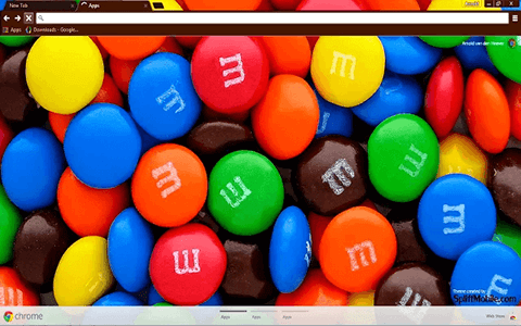 Free M&M's Google Chrome Theme