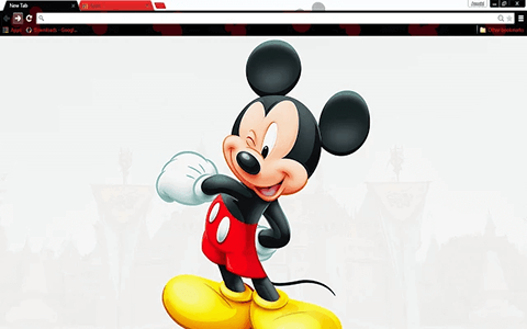 Free Mickey Mouse Google Chrome Theme