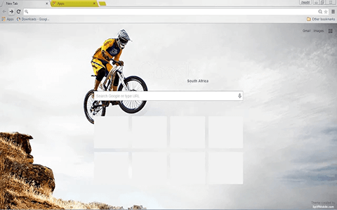 Free Mountain Bike Google Chrome Theme