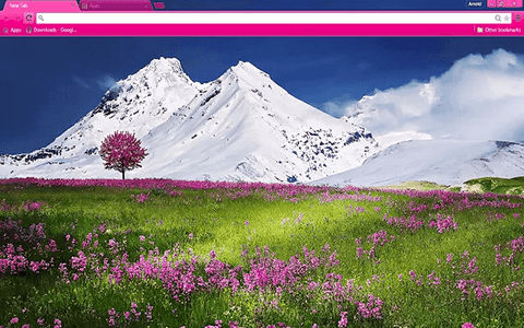 Free Mountain Flowers Google Chrome Theme