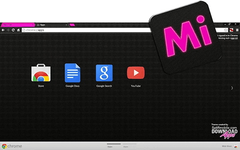 Free Mypro iPink Google Chrome Theme