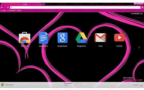 Free Pink Hearts Google Chrome Theme