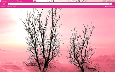 Free Pink Snow Google Chrome Theme