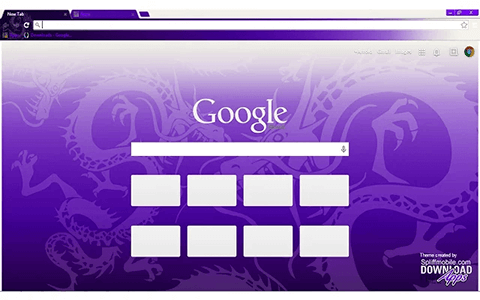 Free Purple Dragon Google Chrome Theme