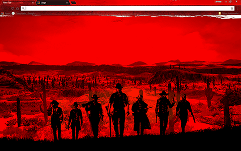 Free Red Dead Redemption Google Chrome Theme