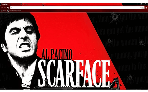 Free Scarface Google Chrome Theme