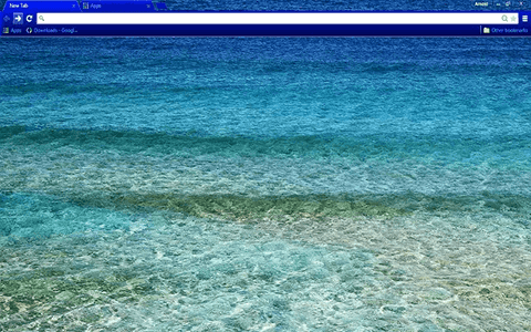 Free Sea Waves Google Chrome Theme
