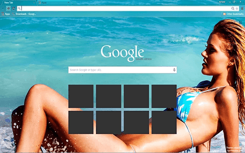 Free Sexy Beach Girl Google Chrome Theme
