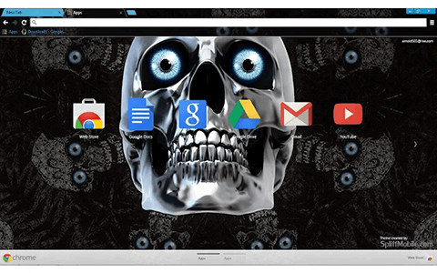 Free Skull Eyes Google Chrome Theme