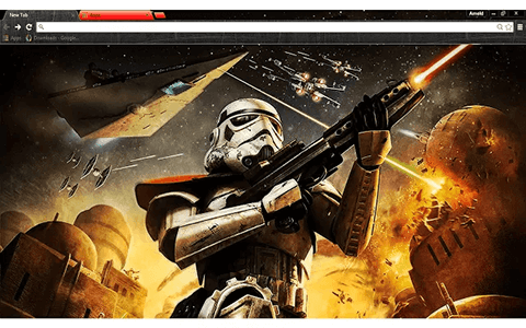 Free Star Wars Trooper Google Chrome Theme