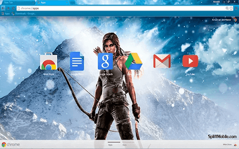 Free Tomb Raider Google Chrome Theme