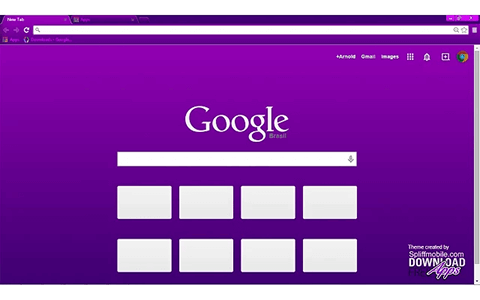 Free Vivacious Purple Google Chrome Theme