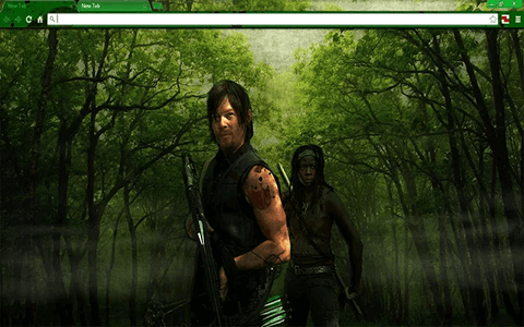 Free Walking Dead D&M Google Chrome Theme