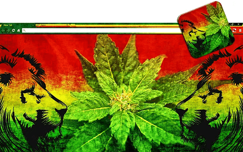 Free Weed Lions Google Chrome Theme