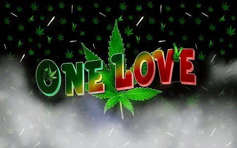 Free Weed One Love Google Chrome Theme