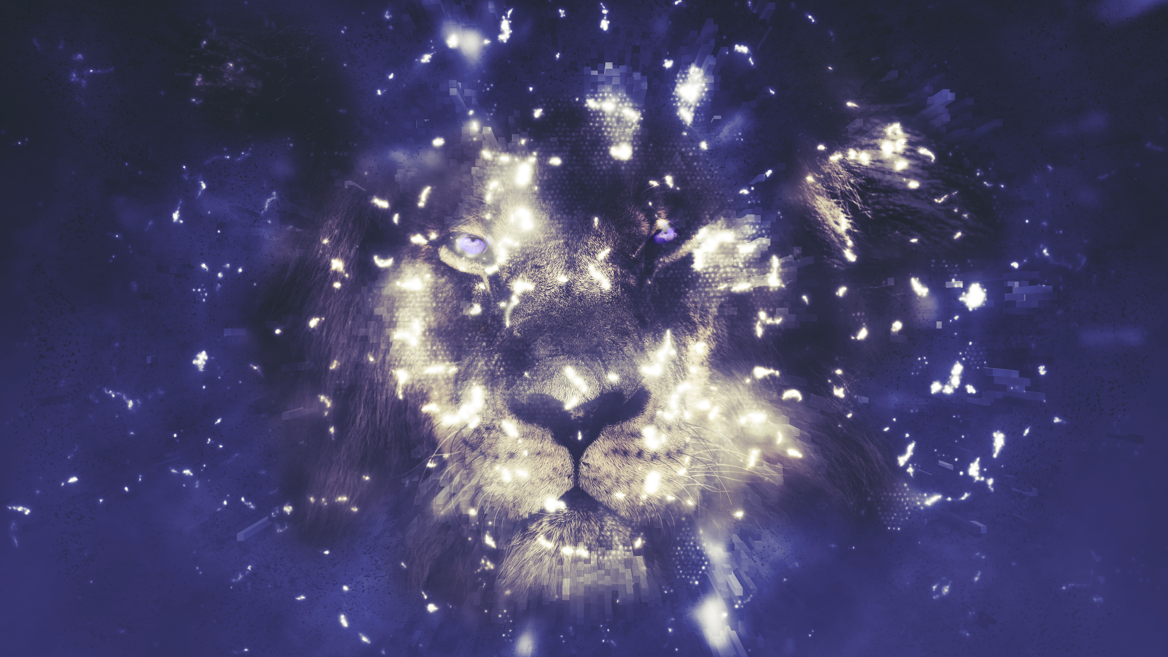 Digital Lion Chromebook Wallpaper