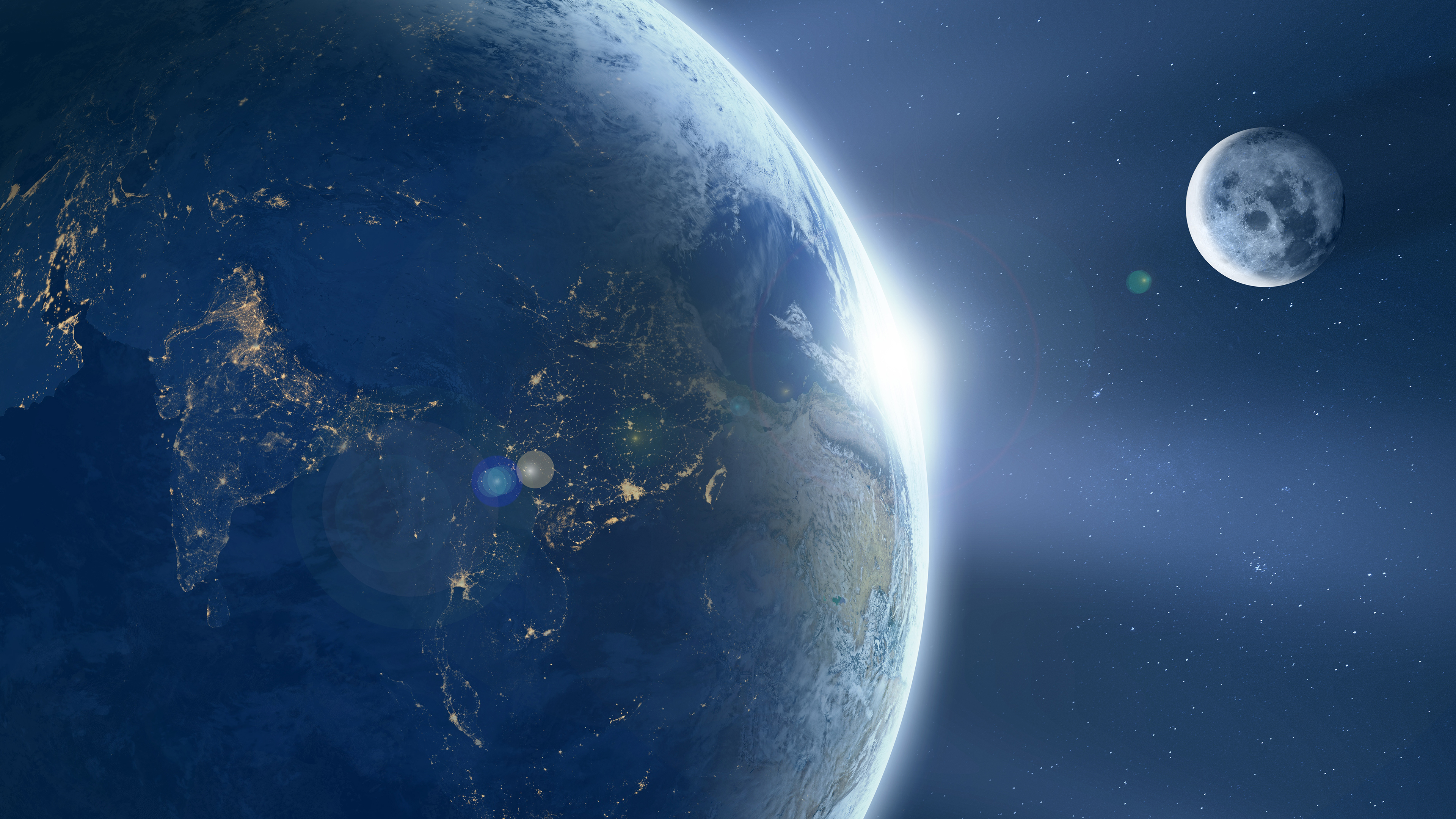 Earth From Space Chromebook Wallpaper