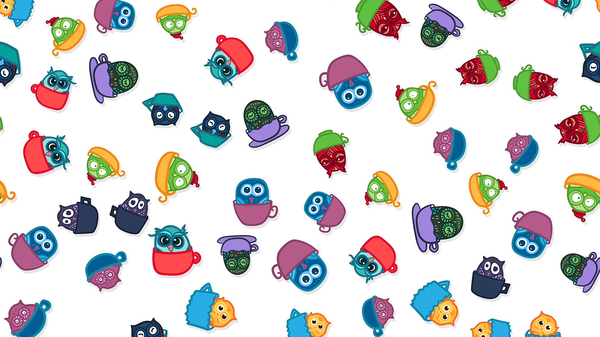 Funny Owls Chromebook Wallpaper