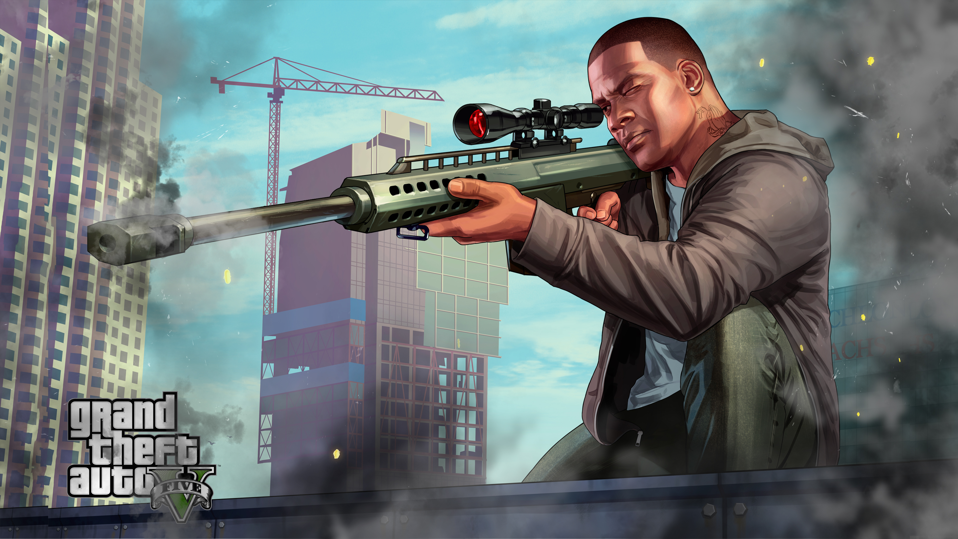 GTA 5 Franklin Sniping Chromebook Wallpaper .