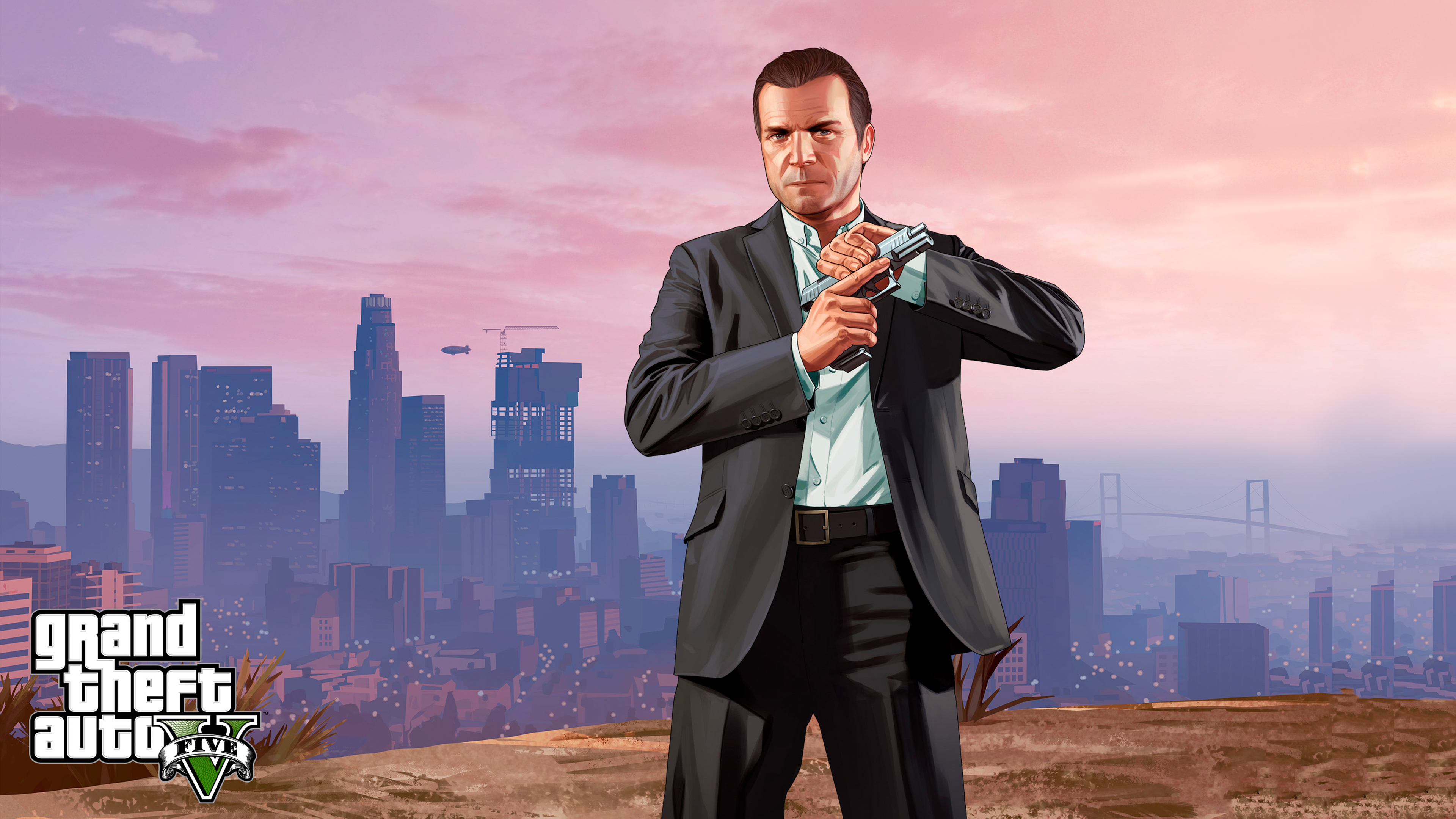 Gta  Micheal Chromebook Wallpaper