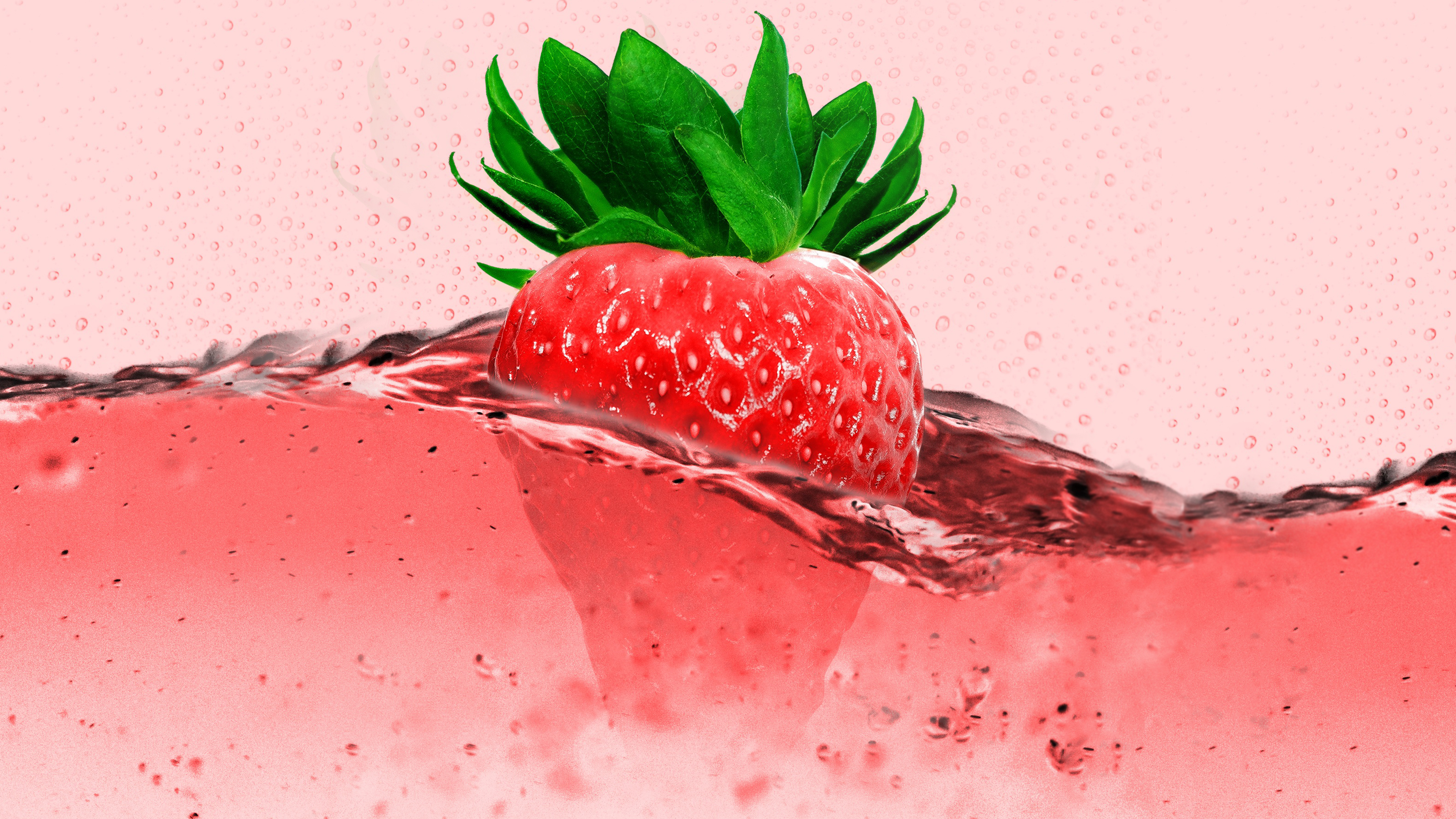 free pink strawberry chromebook wallpaper ready for download